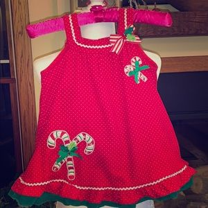 Little girls corduroy Christmas dress size 4T